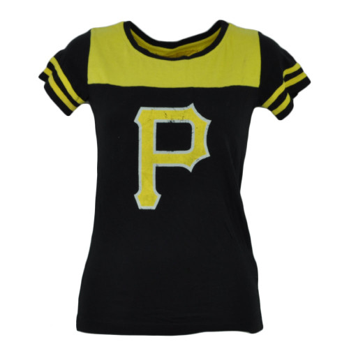 MLB Pittsburgh Pirates Black Yellow Small Tshirt Tee Womens Petite Ladies Sports
