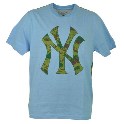 MLB New York Yankees Camouflage Blue Medium Mens Adult Tshirt Tee Short Sleeve