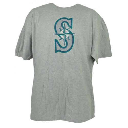 MLB Seattle Mariners Gray Tshirt Tee 2XLarge Short Sleeve Crew Neck XXL Mens
