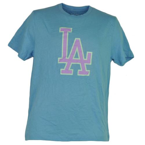 MLB Los Angeles Dodgers Medium Tshirt Tee Blue Wright Ditson Makers Mens Adult