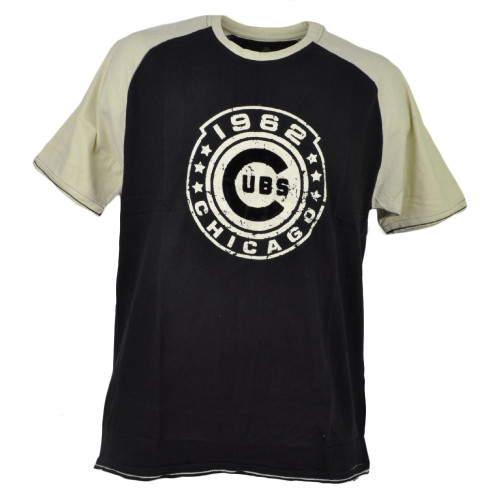 MLB Chicago Cubs Medium Black 1962 Tshirt Tee Short Sleeve Mens Crew Neck Sports
