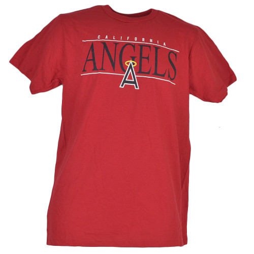 MLB Los Angeles Angels Medium Red Tshirt Tee Crew Neck Short Sleeve Mens Adult