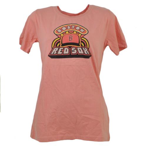 MLB Boston Red Sox Womens Small Tshirt Tee Peach Ladies Adult Short Sleeve Sport