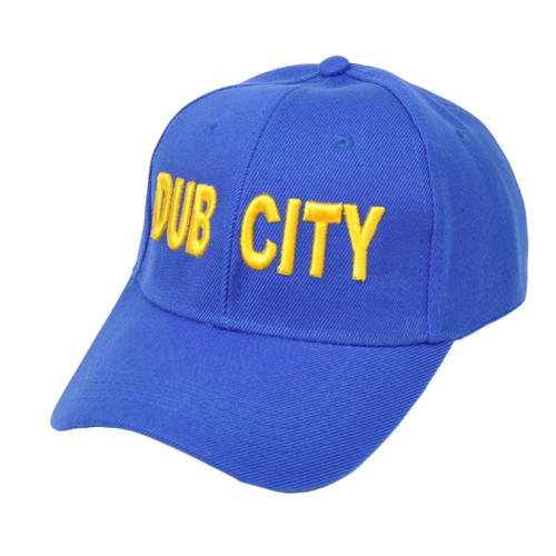 NBA Golden State Warriors Dub City Velcro Blue Adjustable Hat Cap Curved Bill