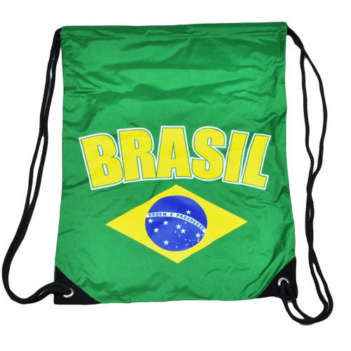 Brasil Brazil Drawstring Green Book Bag Gym Back Pack Travel Country School