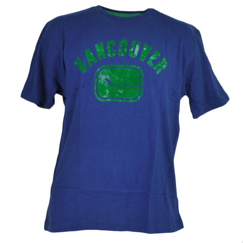 NHL Vancouver Canucks Blue Tshirt Tee Mens Adult Short Sleeve Crew Neck Sports