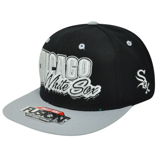 MLB American Needle Chicago White Sox Fusion Angler Snapback Flat Bill Hat Cap
