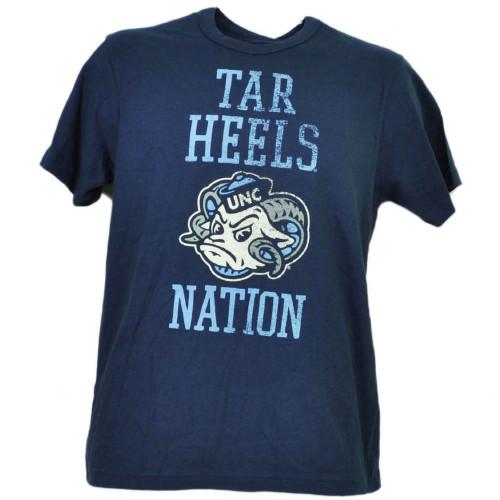 NCAA North Carolina Tar Heels Nation Navy Blue Short Sleeve Mens Adult Sports
