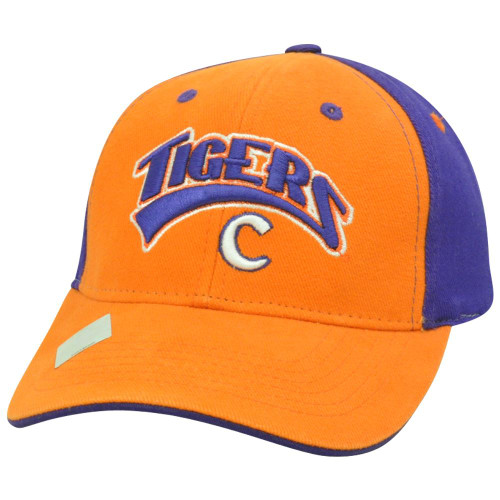 cheap for discount cba11 75ca8 Clemson Tiger NCAA Two Tone Curved Bill Arch Orange Adjustable Velcro Hat  Cap