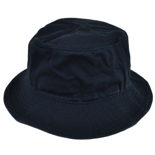 American Needle Blank Plain Navy Blue Bucket Hat Sun Fitted Large XLarge Crusher