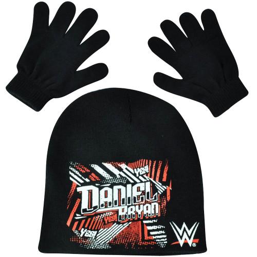 456d272ec WWE Daniel Bryan Beanie Knit Set Gloves Wrestling Entertainment TV Show  Wrestler