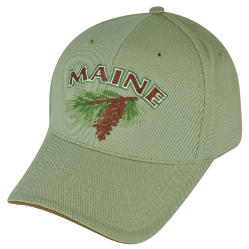 49a944022f6 Maine State USA Beige Clip Buckle Adjustable Town City Hat Cap American  Needle