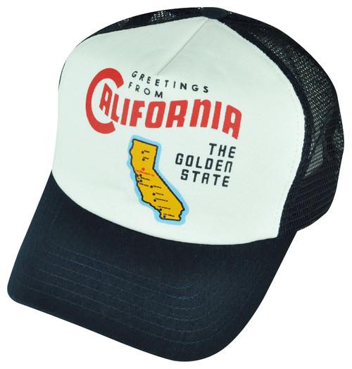 American Needle California The Golden State Foam Panel Mesh Snapback Hat Cap