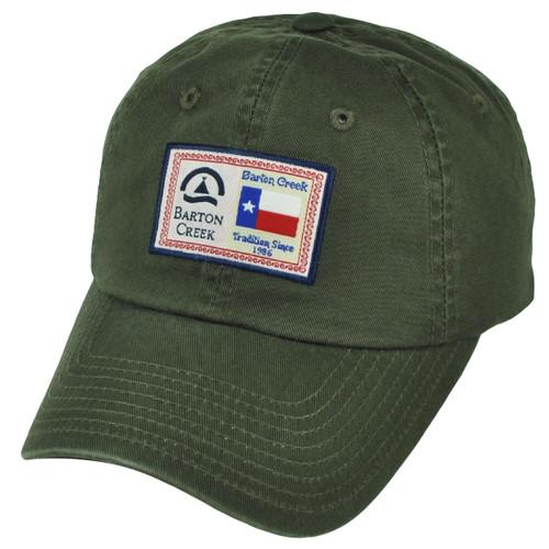 American Needle Barton Creek Austin Texas Sun Buckle Olive Green Hat Cap City