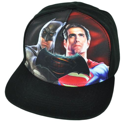 Batman V Superman Dawn of Justice DC Comics Flat Bill Snapback Hat Cap Movie Blk