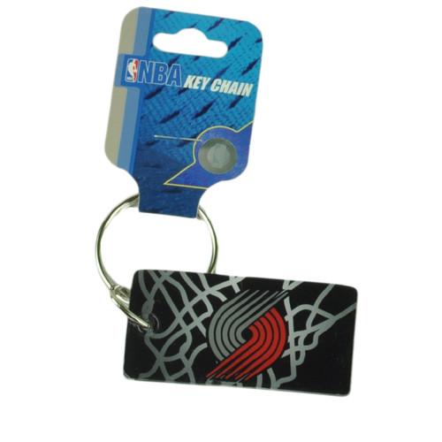 NBA Portland Trail Blazers House Work Key Chain Ring Black Red Novelty Sport