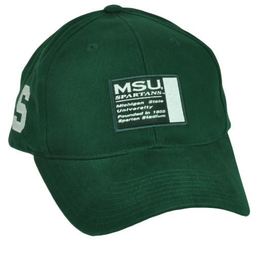 50a0adfa4beb3 NCAA Michigan State Spartans Hat Cap Adjustable Sport Green Est 1855 MSU