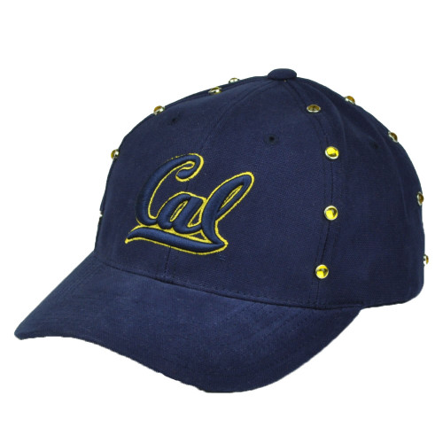 purchase cheap 8d7fe 1f6db NCAA American Needle California Cal Golden Bears Hat Cap Navy Blue Gems