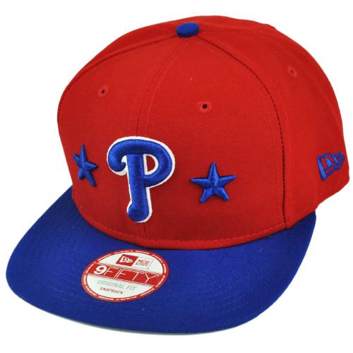 MLB New Era 9Fifty 950 Star Backed Philadelphia Phillies Snapback Red Hat Cap