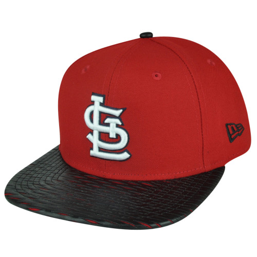MLB New Era 9Fifty 950 Leather Rip St Louis Cardinals Snapback Hat Cap Flat Bill