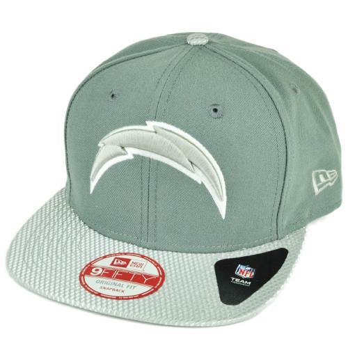 NFL New Era 9Fifty Flash Vize San Diego Chargers Snapback Hat Cap Flat Bill Gry