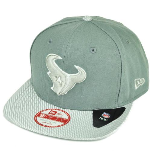 NFL New Era 9Fifty Flash Vize Houston Texans Snapback Hat Cap Flat Bill Gray