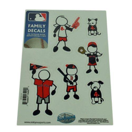 MLB Boston Red Sox Family Decal Set Car Small Repositionable Vinyl Automobile