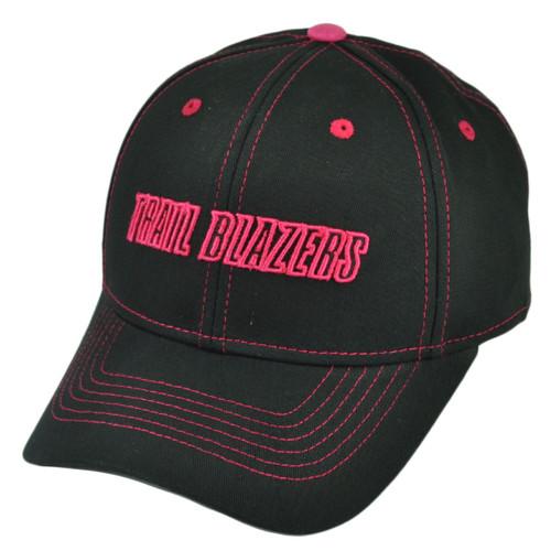 NBA Portland Trail Blazers Womens Black  Adjustable Hat Cap Ladies Sport