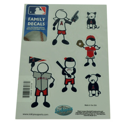 MLB Los Angeles Angels Family Decal Set  Car Fan Repositionable Vinyl Automobile