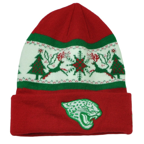 NFL New Era Fillz Jacksonville Jaguars Cuffed Knit Beanie Toque Christmas Theme