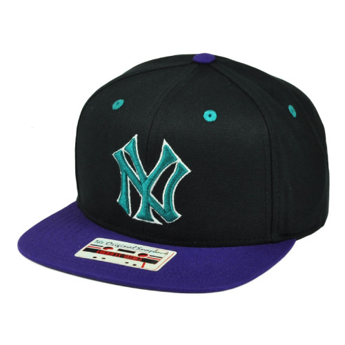 776af6818b5 MLB New York Yankees American Needle Snapback Flat Bill Hat Cap Black Sport  NY