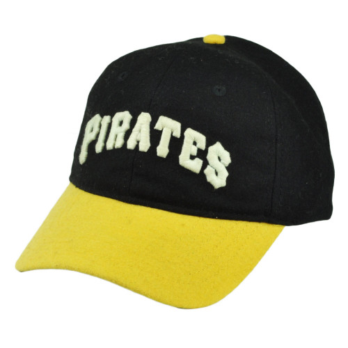 MLB Pittsburgh Pirates Leather Clip Buckle Hat Cap Wool American Needle Black