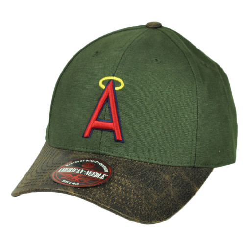 MLB  Los Angeles Angels Leather Sun Buckle Hat Cap American Needle Green Sport