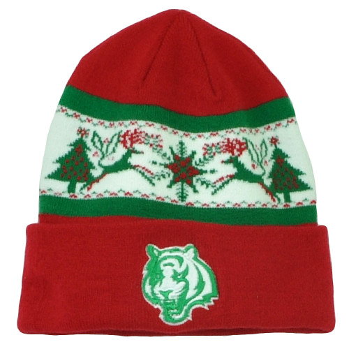 NFL New Era Fillz Cincinnati Bengal Cuffed Knit Beanie Toque Christmas Theme Hat