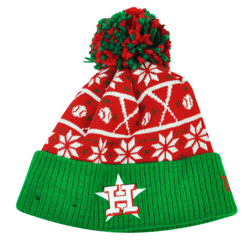 90134de37c205 MLB New Era Sweater Chill Houston Astros Pom Pom Cuffed Knit Beanie Winter  Hat