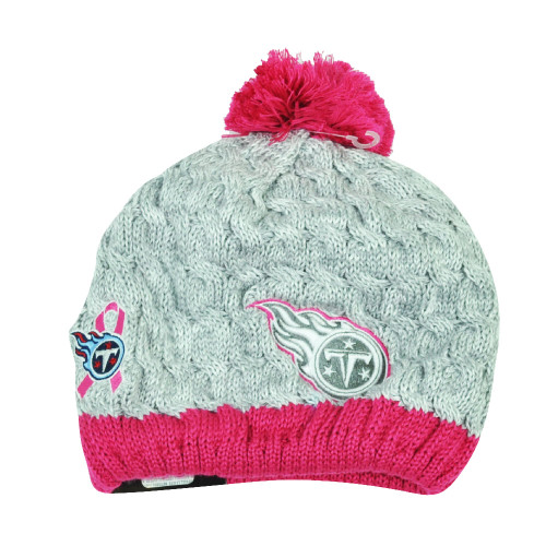 dec4a8b839c24 NFL New Era Breast Cancer Awareness Knit Beanie Tennessee Titans Pink  Womens Hat