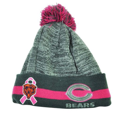 NFL New Era 15 Breast Cancer Awareness Sport Knit Beanie Womens Chicago Bears