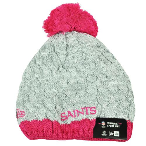 317770b094034b ... NFL New Era Breast Cancer Awareness Knit Beanie New Orleans Saints Pink  Womens