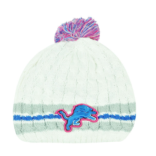 NFL New Era 14 Breast Cancer Awareness Womens Knit Beanie Detroit Lions Toque