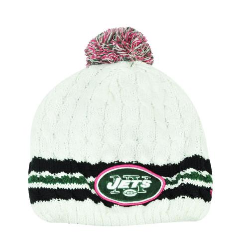 NFL New Era 14 Breast Cancer Awareness Womens Knit Beanie New York Jets Toque