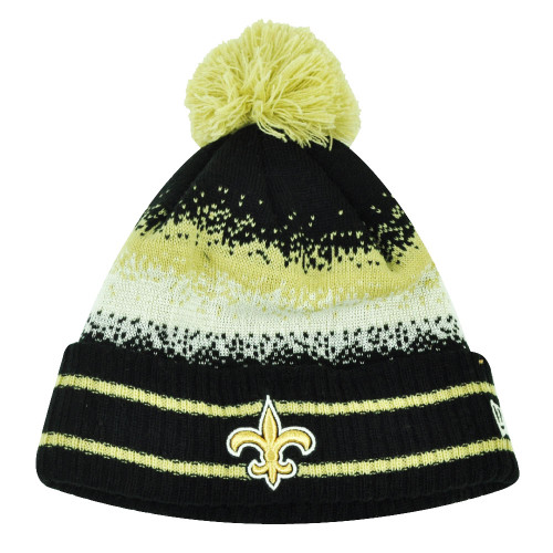 NFL New Era Spec Blend New Orleans Saint Cuffed Pom Pom Knit Beanie Hat Toque