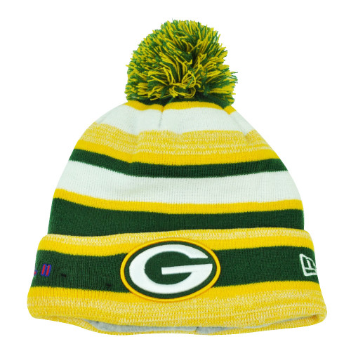 NFL New Era Super Bowl II Sport Knit Green Bay Packers Knit Beanie Striped Hat