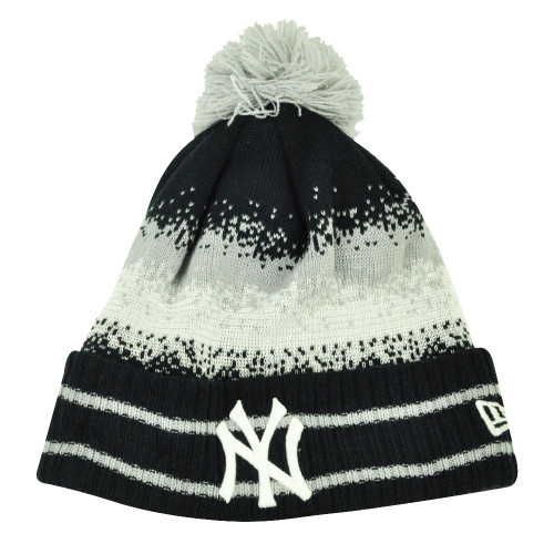 1748b458bcb857 MLB New Era Spec Blend New York Yankees Cuffed Pom Pom Knit Beanie Hat Toque