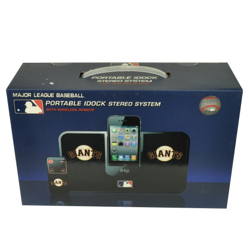 MLB San Francisco Giants iHip Portable iDock Stereo System Wireless Remote Phone