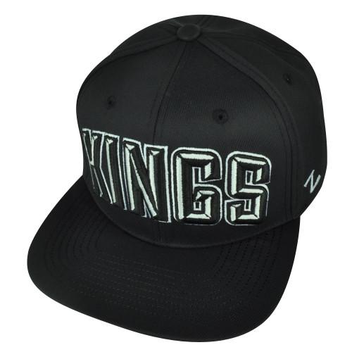 NHL Zephyr Los Angeles Kings 6 Panel Flat Bill Villain Snapback Black Hat Cap