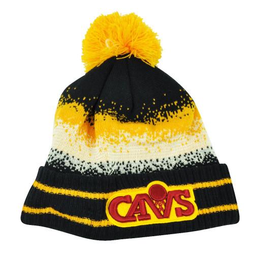 NBA New Era Spec Blend Cleveland Cavaliers Cuffed Pom Pom Knit Beanie Hat Toque