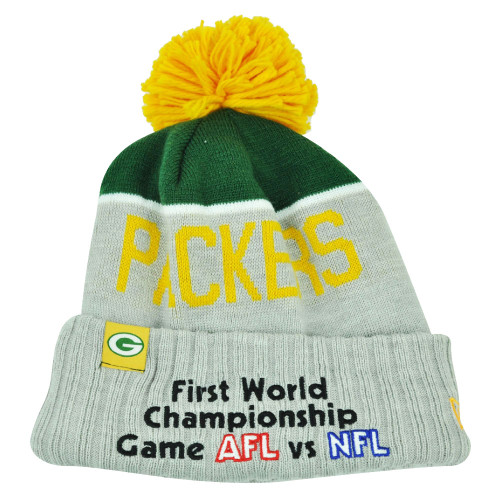 NFL New Era Super Bowl XLV Sport Knit Green Bay Packers Knit Beanie Cuffed Toque