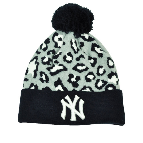 04562ccc721b51 MLB New Era Winter Jungle New York Yankees Cheetah Knit Beanie Cuffed Hat  Toque