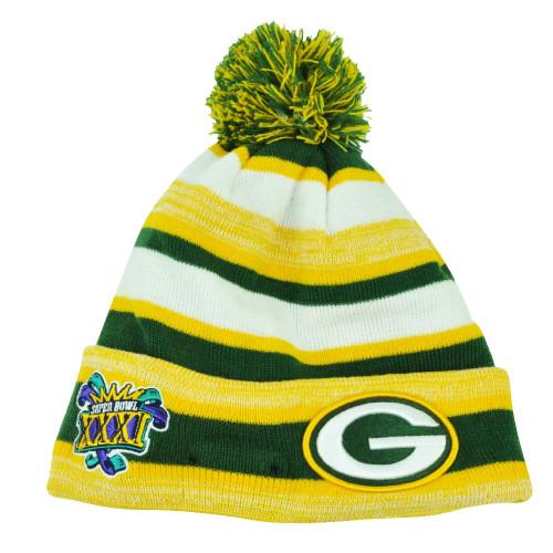 NFL New Era Super Bowl XXXI Sport Knit Green Bay Packers Knit Beanie Cuffed
