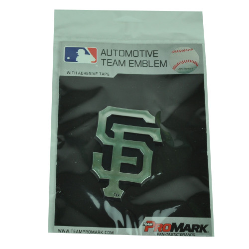 MLB San Francisco Giants Automotive Emblem Vehicles Cars Silver Black 3D Chrome
